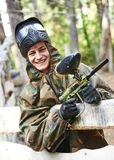 Man paintball player Stock Photography