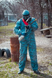 Man - paintball player portrait Stock Photo