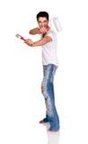 Man with paintbrush. Stock Photos