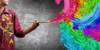Man painter Stock Images