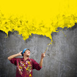 Man painter Stock Photography