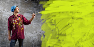 Man painter Royalty Free Stock Photography