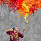 Man painter Royalty Free Stock Image