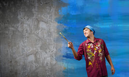 Man painter Stock Photos