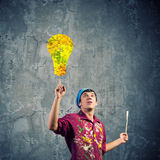 Man painter Stock Image
