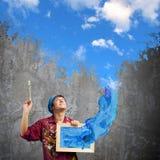 Man painter Royalty Free Stock Image