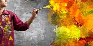 Man painter Stock Photo
