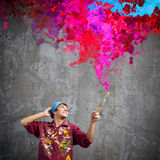 Man painter Royalty Free Stock Photo