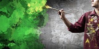 Man painter Stock Photos