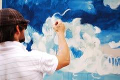 Man painting Royalty Free Stock Photos