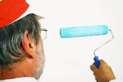 Man painting Stock Image
