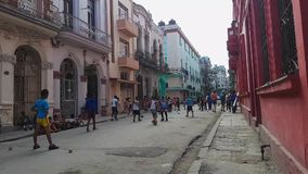 Typical day in the alley of Havana stock video footage