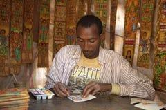 A man painting, Ethiopia Royalty Free Stock Photos