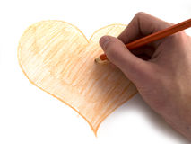 Man painting heart Stock Photography