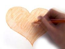 Man painting heart Stock Photos