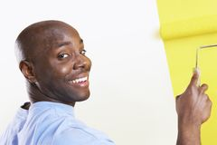 Man Painting His New House Royalty Free Stock Photo
