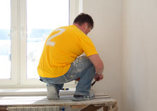 Man Painting a Room Stock Photography