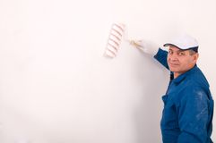 Man painting the wall Royalty Free Stock Image