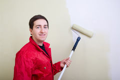 Man painting a wall Royalty Free Stock Image