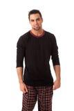 Man in Pajamas Stock Images