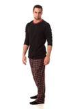 Man in Pajamas Stock Image