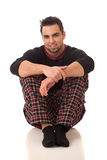 Man in Pajamas Royalty Free Stock Photography