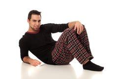 Man in Pajamas Stock Photography