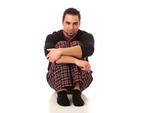 Man in Pajamas Royalty Free Stock Image