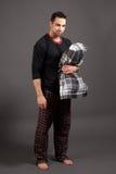 Man in Pajamas Stock Photos