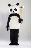 Man in panda costume Stock Image