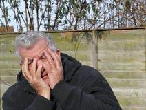 Man panic attack. Royalty Free Stock Photos