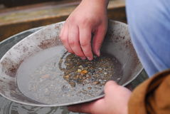 Man panning for gold Stock Photos