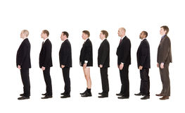 Man without pants on a line Royalty Free Stock Photography