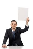 Man with paper Royalty Free Stock Photo