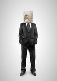 Man with paper bag Royalty Free Stock Image