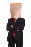 Man with a paper bag on head Stock Photos