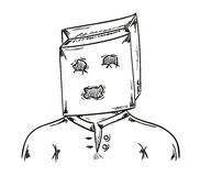 Man with paper bag on his head Stock Images