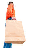 Man with a paper bag Royalty Free Stock Photos