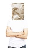 Man with paper bag Royalty Free Stock Photo