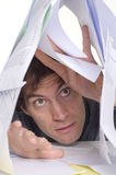 Man and paperwork Royalty Free Stock Image