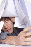 Man and paperwork Stock Images