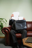 Man with paperwork Royalty Free Stock Image