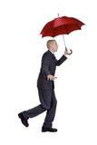 man paraplyet Arkivbild
