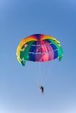 Man is parasailing royalty free stock images