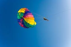Man is parasailing stock photos