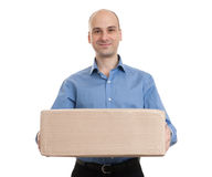 Man with parcel Royalty Free Stock Image