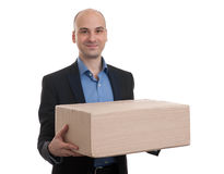 Man with parcel Royalty Free Stock Photography