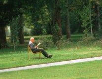 Man in park Stock Image