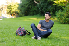 Man in the park Stock Image