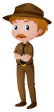 Man in park ranger costume Stock Image